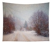 The Man In The Snowstorm Tapestry