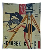 The Man With A Movie Camera Tapestry