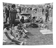 The March On Washington   At Washington Monument Grounds Tapestry