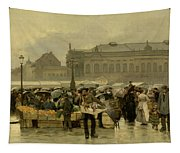 The Market In Antwerp Tapestry