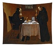 The Meal Of Saint Benedict Of Nurcia Tapestry