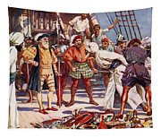 The Merchants Of Calicut, India, Held Tapestry
