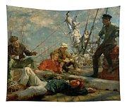 The Midday Rest Sailors Yarning Tapestry