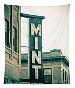 The Mint Classic Neon Sign Livingston Montana Tapestry