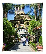 The Mission Inn Stage Coach Entrance Tapestry