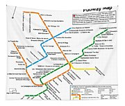 The Montreal Pubway Map Tapestry