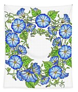 The Morning Glory Circle Watercolor Tapestry