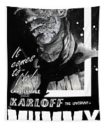 The Mummy 1932 Movie Poster With Tagline Tapestry