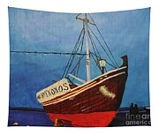 The Mykonos Boat Tapestry