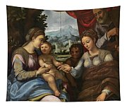 The Mystic Marriage Of Saint Catherine Tapestry