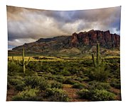 The Mystical Beauty Of The Superstitions  Tapestry