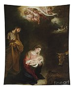The Nativity With The Annunciation To The Shepherds Beyond Tapestry