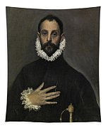 The Nobleman With His Hand On His Chest Tapestry