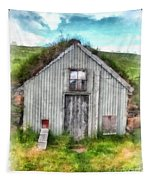 The Old Chicken Coop Iceland Turf Barn Tapestry