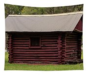 The Old Log Hut Tapestry