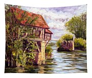 The Old Mill Of Vernon Tapestry
