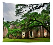 The Old Sheldon Church Ruins Tapestry