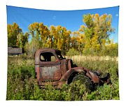 The Old Truck  Chama New Mexico Tapestry