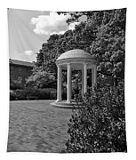 The Old Well At Chapel Hill In Black And White Tapestry