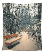 The Orange Bench Tapestry