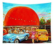 The Orange Julep Montreal Tapestry