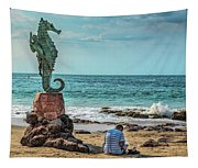 The Original Boy On The Seahorse Tapestry