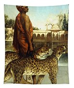 The Palace Guard With Two Leopards Tapestry