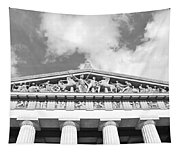 The Parthenon In Nashville Tennessee Black And White 2 Tapestry