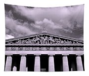 The Parthenon In Nashville Tennessee Black And White Tapestry