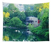 The Philadelphia Canoe Club At The Mouth Of The Wissahickon Tapestry