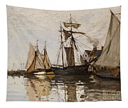The Port Of Honfleur Tapestry