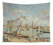 The Port Of Le Havre In The Afternoon Sun Tapestry