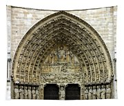 The Portal Of The Last Judgement Of Notre Dame De Paris Tapestry