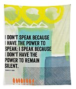 The Power To Speak- Contemporary Jewish Art By Linda Woods Tapestry