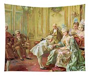 The Presentation Of The Young Mozart To Mme De Pompadour At Versailles Tapestry