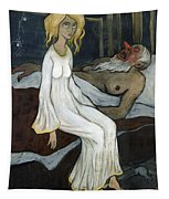 The Princess And The Troll Tapestry