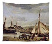 The Quay At Rouen Tapestry
