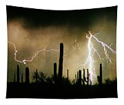 The Quiet Southwest Desert Lightning Storm Tapestry