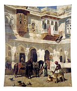 The Rajah Starting On A Hunt Tapestry