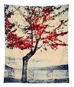 The Red Tree At Okanagan Lake Tapestry