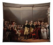 The Resignation Of General George Washington Tapestry