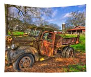 The Resting Place Boswell Farm 1947 Dodge Dump Truck Tapestry