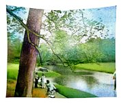 The Return Of The Tiger 03 - Walking On Water Tapestry