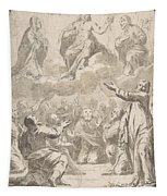 The Risen Christ Between The Virgin And St. Joseph Appearing To St. Peter And Other Apostles Tapestry