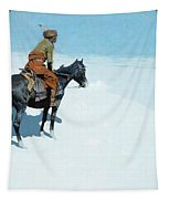 The Scout Friends Or Foes Tapestry by Frederic Remington