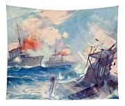 The Sinking Of A German U Boat After Being Rammed By The British Cruiser  Tapestry
