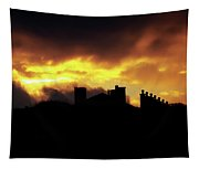 The Sky Is On Fire Sunrise Tapestry