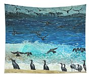 The Sociable Seagull Tapestry