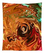 The Spirit Of Christmas - Abstract Art Tapestry