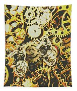 The Steampunk Heart Design Tapestry